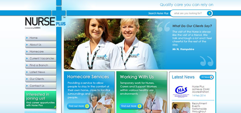 Graphic design for care home brochure