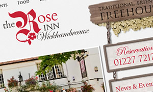 Website design for local pubs and restaurants
