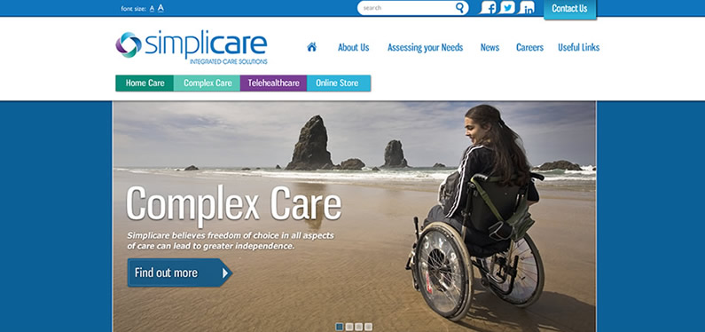Website design consultants for care providers in Kent