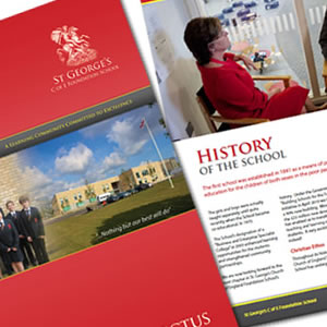 School Prospectus design in Kent