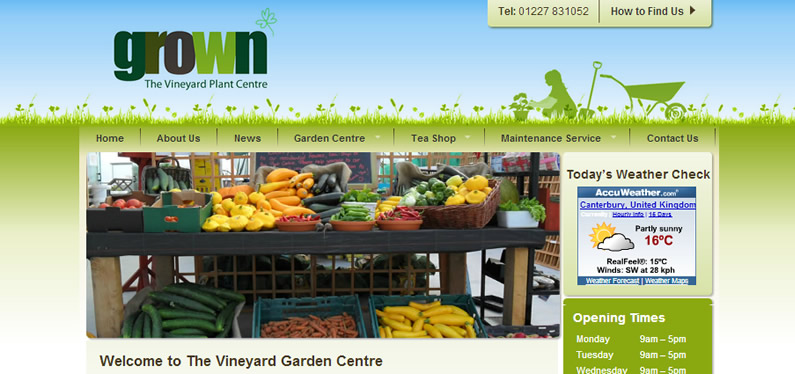 Garden Centre website design, Kent, charity web design company .... Pixsion Design - garden design website